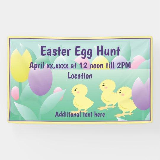 Easter Egg Hunt Chicks Eggs Banner