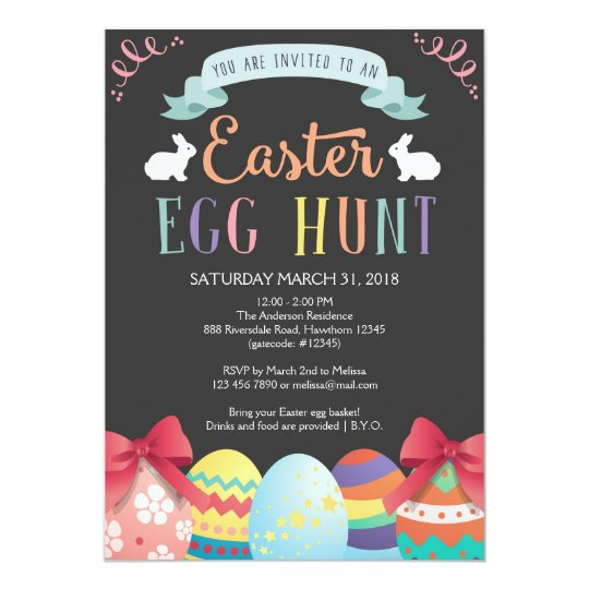 Easter Egg Hunt Invitation, Egg Hunt Invite
