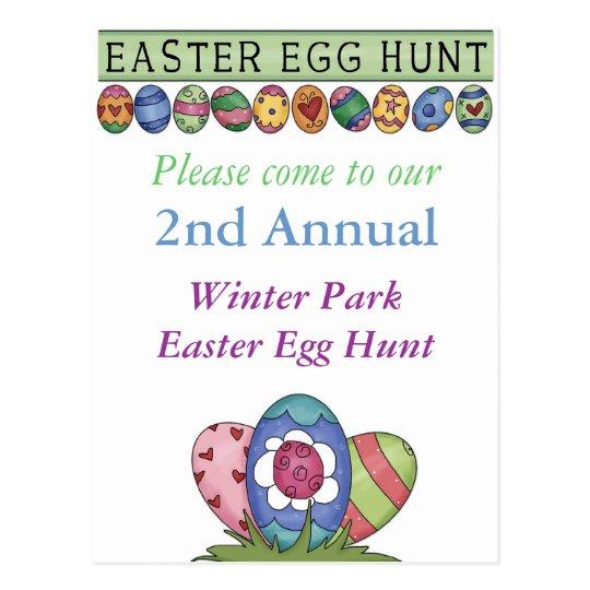 Easter Egg Hunt Invitation Postcard