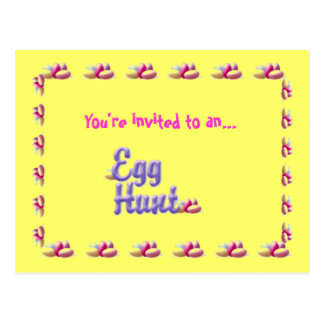 Easter egg hunt invitation postcard