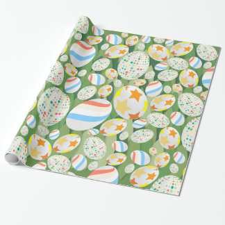 Easter Egg Hunt with Grass Background Wrapping Paper