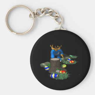 Easter Egg Hunting Basic Round Button Keychain