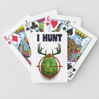 easter egg, I hunt easter deer eggs, funny shooter Bicycle Playing Cards