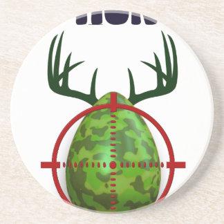 easter egg, I hunt easter deer eggs, funny shooter Coaster