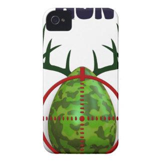 easter egg, I hunt easter deer eggs, funny shooter iPhone 4 Case-Mate Case