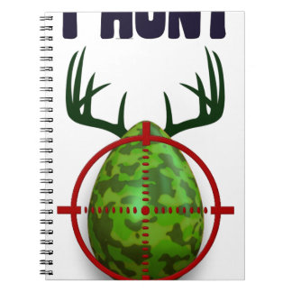 easter egg, I hunt easter deer eggs, funny shooter Notebook