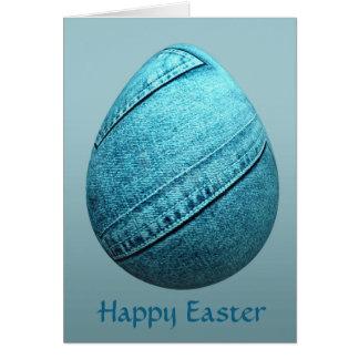Easter Egg in Blue Jeans Card