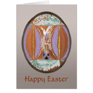 Easter Egg in Ethnic Look Abstract Card