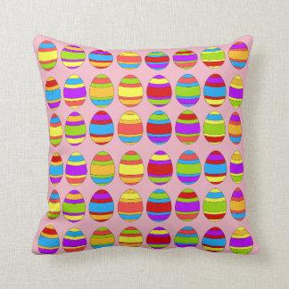 Easter Egg Pattern Throw Pillow