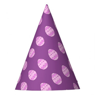 Easter egg pink party hat
