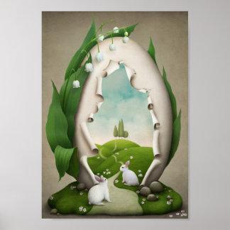 Easter Egg Rabbits Poster