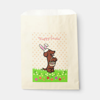 Easter Egg Red Smooth Haired Dachshund Favour Bags
