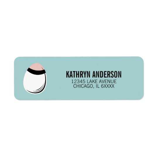 Easter Egg Return Address Label