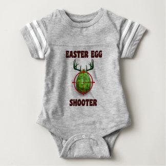 easter egg shooter, funny easter deer gift desgin baby bodysuit