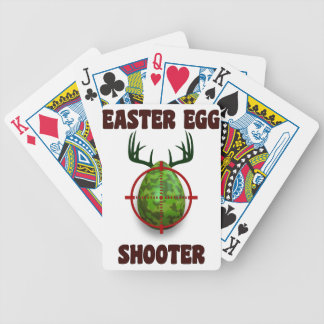 easter egg shooter, funny easter deer gift desgin bicycle playing cards