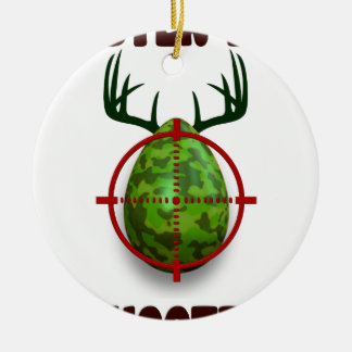 easter egg shooter, funny easter deer gift desgin ceramic ornament
