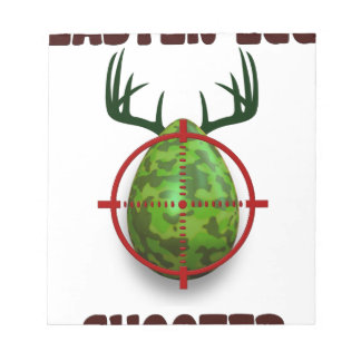 easter egg shooter, funny easter deer gift desgin notepad