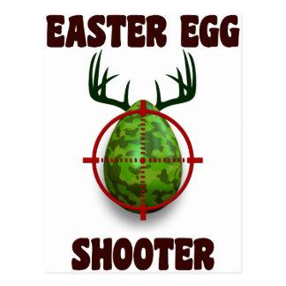 easter egg shooter, funny easter deer gift desgin postcard