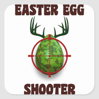 easter egg shooter, funny easter deer gift desgin square sticker