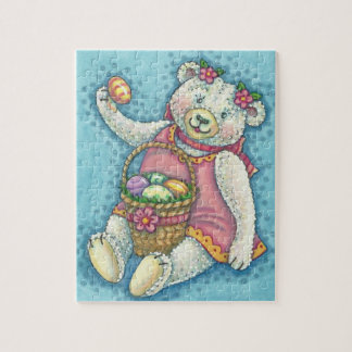 EASTER EGG TEDDY BEAR HOLIDAY PUZZLE