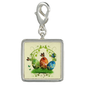 Easter Eggs and Butterflies Charms
