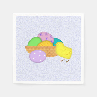 Easter Eggs And Chick Paper Napkins
