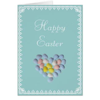 Easter eggs and Heart Card