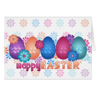 Easter Eggs and Spring Flowers Card