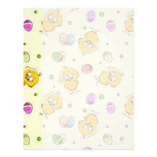 Easter Eggs & Baby Chicks Custom Letterhead