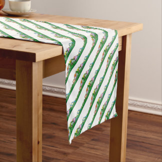 Easter Eggs Background Short Table Runner