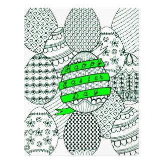 Easter Eggs Custom Letterhead