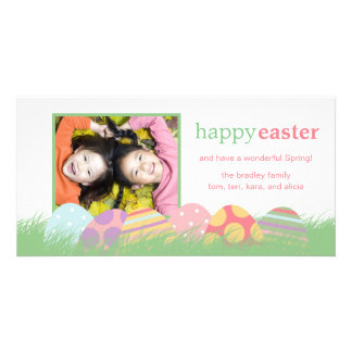 Easter Eggs Easter Photo Greeting Cards Personalized Photo Card