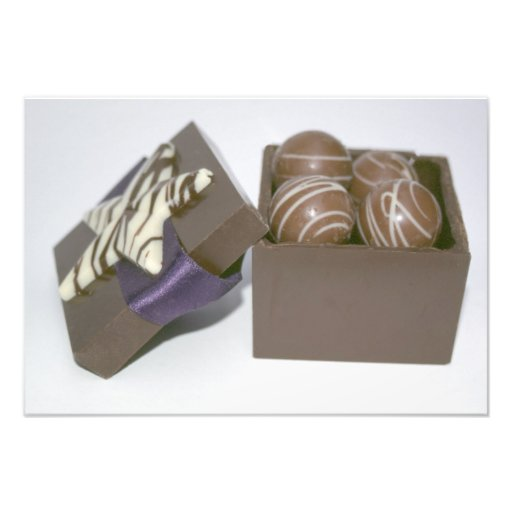 Easter eggs in a chocolate box art photo