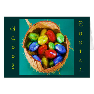 Easter Eggs in Basket I Greeting Card