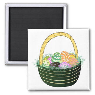 Easter Eggs in Decorative Basket Magnet