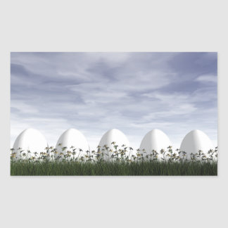 Easter eggs in nature by cloudy day - 3D render Sticker