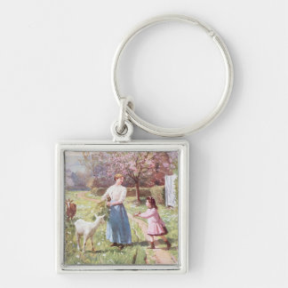 Easter Eggs in the Country, 1908 Keychains