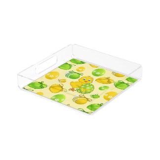 Easter Eggs Little Chicken Pattern Acrylic Tray