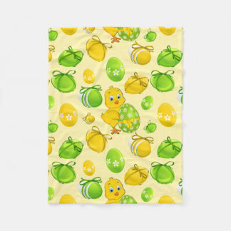 Easter Eggs Little Chicken Pattern Fleece Blanket