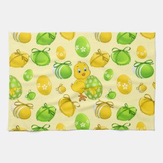 Easter Eggs Little Chicken Pattern Kitchen Towel