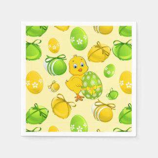 Easter Eggs Little Chicken Pattern Paper Napkin