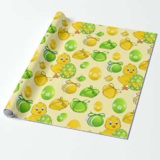 Easter Eggs Little Chicken Pattern Wrapping Paper