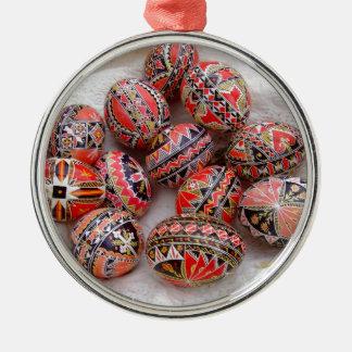 Easter Eggs Metal Ornament