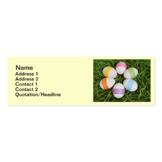 Easter Eggs Pack Of Skinny Business Cards