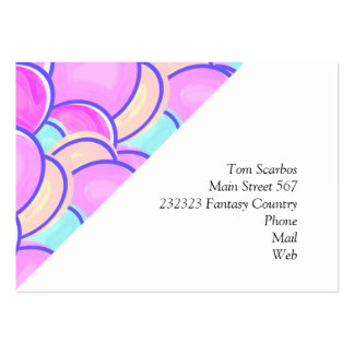 easter eggs pastel large business card