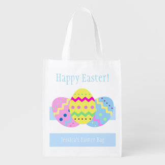 Easter Eggs Reusable Grocery Bag
