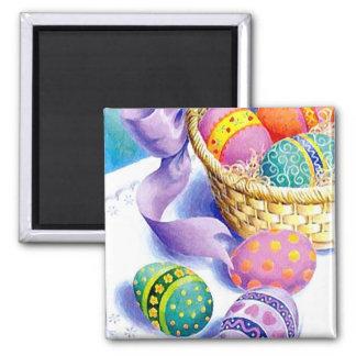Easter eggs square magnet