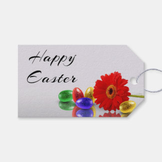Easter Eggs with Gerbera - Gift Tag