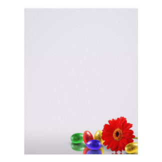 Easter Eggs with Gerbera - Stationery Letter Paper Personalized Letterhead