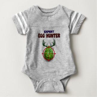 Easter expert Hunter, egg deer target shooter, fun Baby Bodysuit